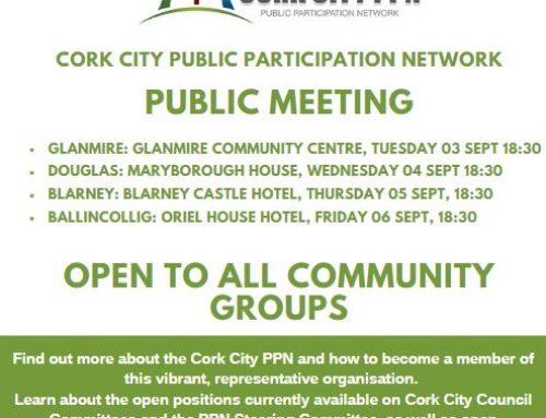 PPN Public Meetings – Glanmire 03 Sept | Douglas 04 Sept | Blarney 05 Sept | Ballincollig 06 Sept