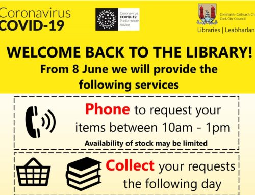 Cork City Libraries Begin Phone, Collect, Return Service from Monday 08 June